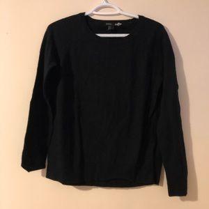 Black basic cashmere sweater